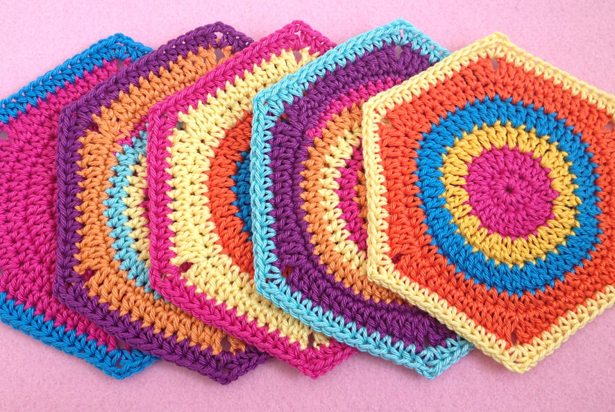 Granny square hexagon twistysix crochet pattern photo tutorial