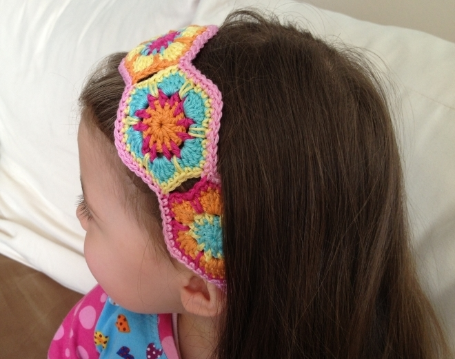 Crochet Tutorial Headband : Flower Power Headband JANA ~ PDF crochet pattern, photo tutorial