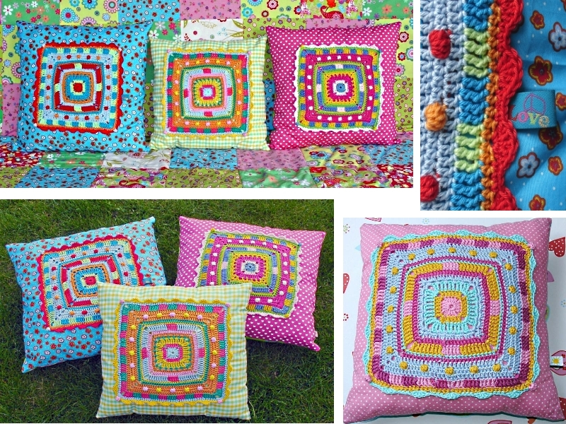 ... Big granny square pillow cushion ~ crochet and sewing pattern photo- tutorial ... & Cushion Big Granny Square crochet and sewing pattern pillowsntoast.com