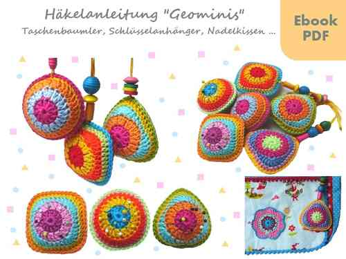 Geominis ~ bag hanger, pincushion and more -crochet pattern