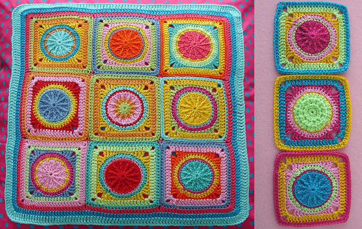 Granny Square Solaris Crochet Pattern Photo Tutorial