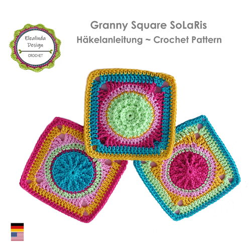 Granny Square SoLaRiS ~ crochet pattern, photo-tutorial