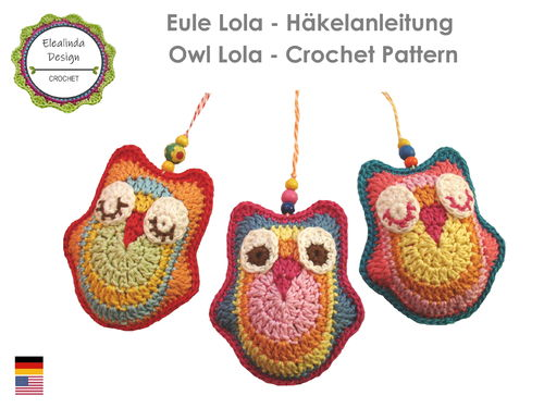 Owl Lola new generation - crochet pattern PDF photo tutorial