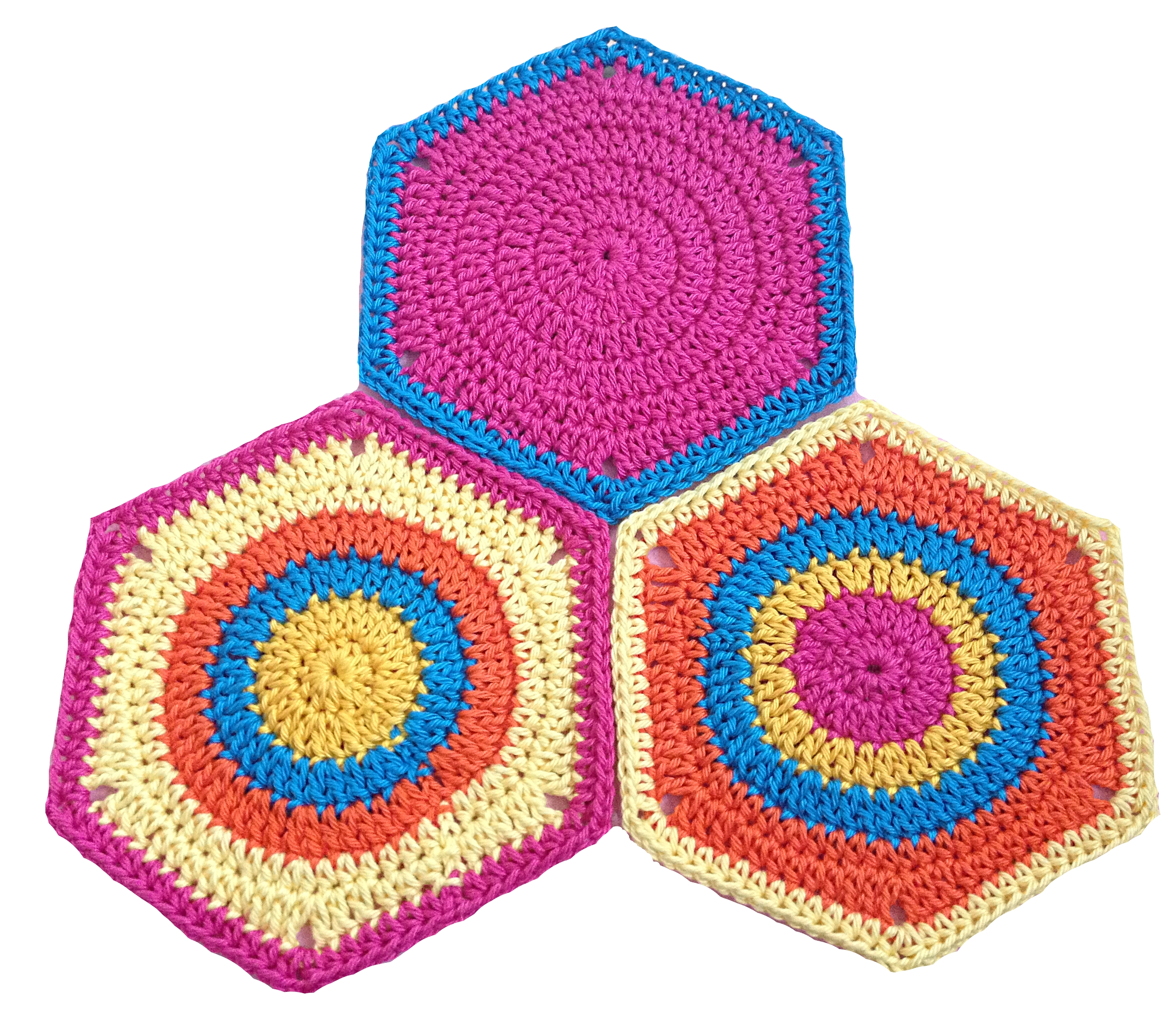 Granny Square Hexagon TwistySix - Häkelanleitung PDF