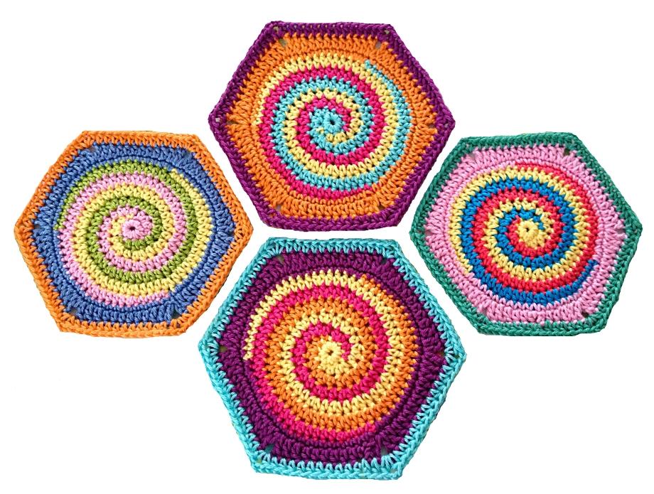 Granny Square Hexagon TwistySix - Crochet pattern, photo tutorial