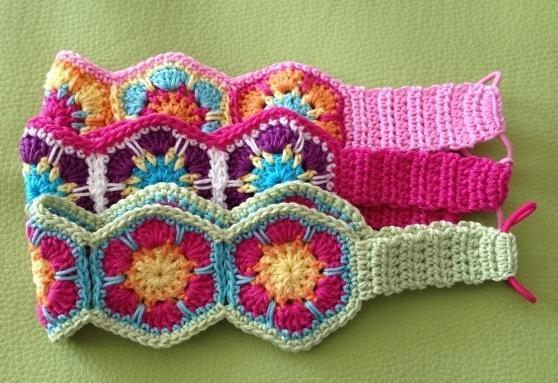 Crochet Headband With Flower Pattern Tutorial : Flower Power Headband JANA ~ PDF crochet pattern, photo ...