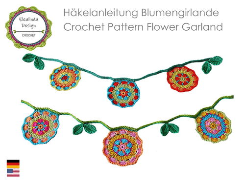 Flower Garland Crochet Pattern PDF