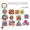 10 x Crochet pattern, Granny Square Package, Bestseller patterns, Square, Hexagon, Octagon, Triangle