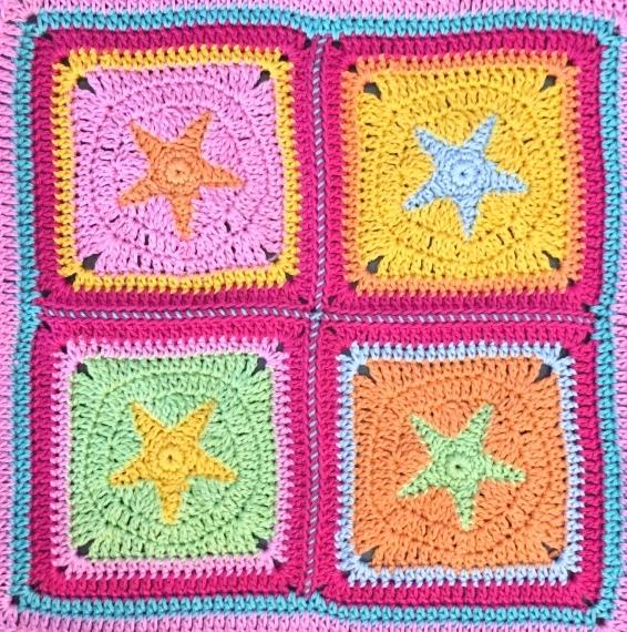 Granny Square Hexagon Shabby Stars Häkelanleitung Pdf Ebook