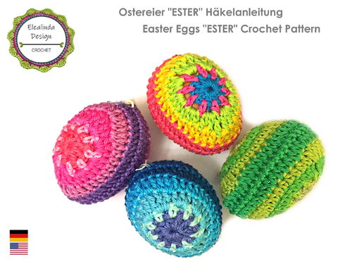 "Colorful Easter Eggs ""Ester"" - crochet pattern - photo tutorial"
