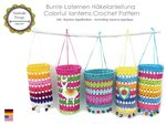 Colorful lanterns and Alpaca applique crochet tutorial PDF