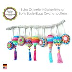 Crochet Pattern Boho Easter Eggs Decoration Tutorial PDF ENGLISH (US terms)