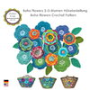 Boho Flowers Crochet Pattern, Crochet Flowers, Floral Decoration, PDF