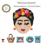 Mexican Beauty Crochet Pattern, Application Decoration PDF