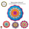 Crochet Pattern Mandala Mood, PDF, Boho Living, Crochet Tutorial, US terms, coaster, decor